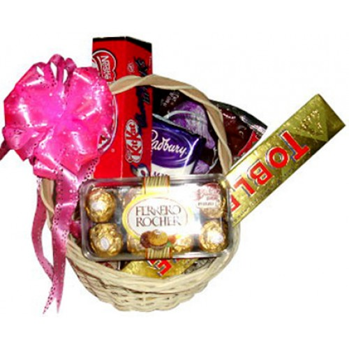 Assorted Chocolate Lover Basket Send To Manila Philippines