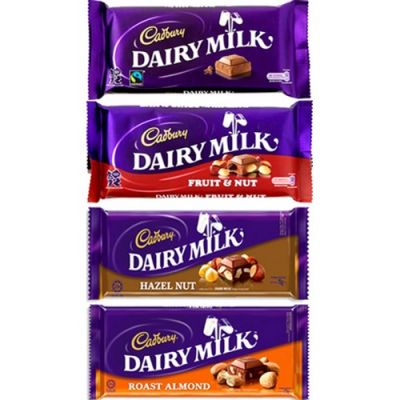 Cadbury Dairy Milk 4 Assorted Bars 75g each  Send to Philippines
